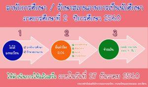 ลาพักการศึกษา/รักษาสภาพการเป็นนักศึกษา  2/2560